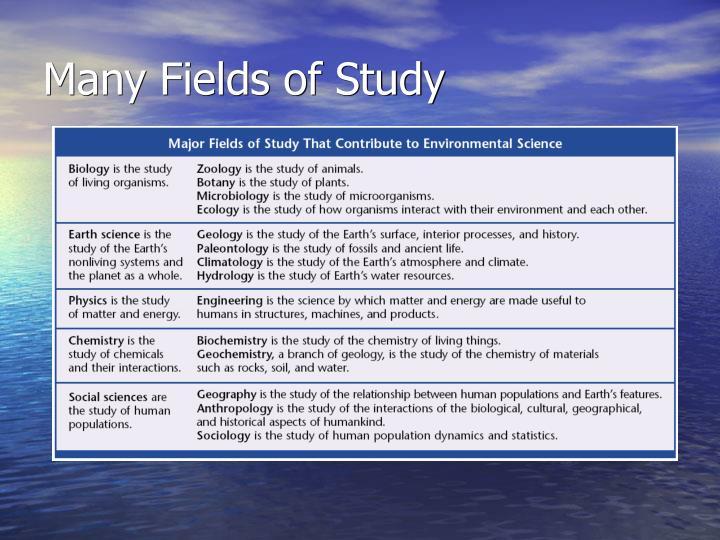 Many Fields of Study
