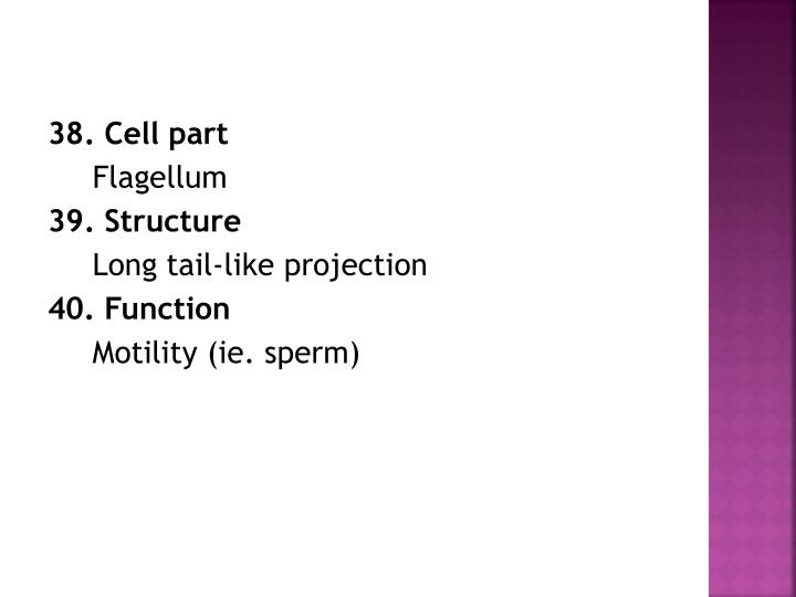 38. Cell part