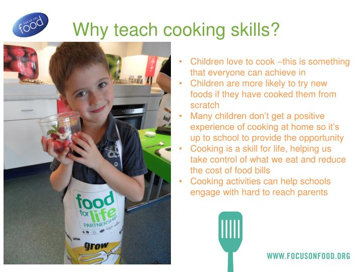 Why teach cooking skills?