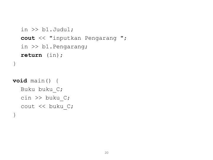 in >> b1.Judul;