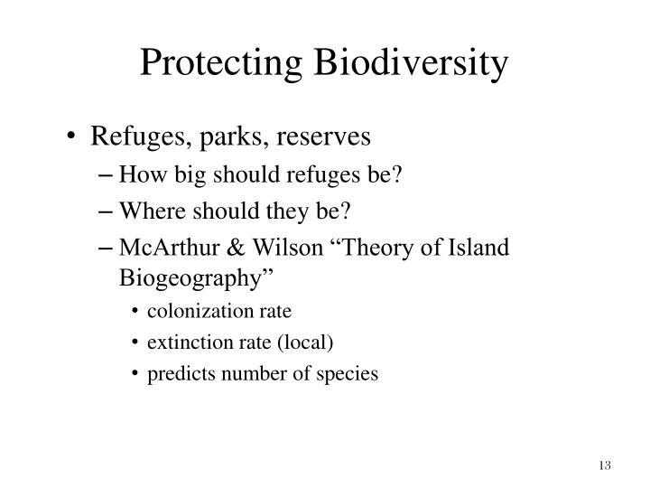 Protecting Biodiversity