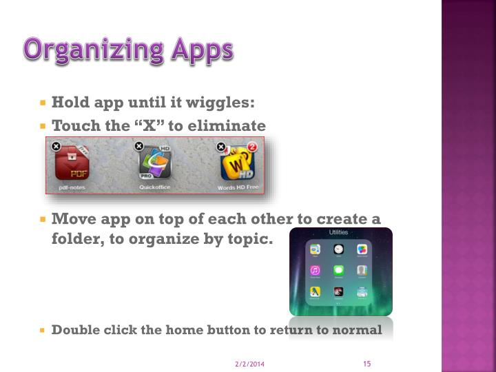 Organizing Apps