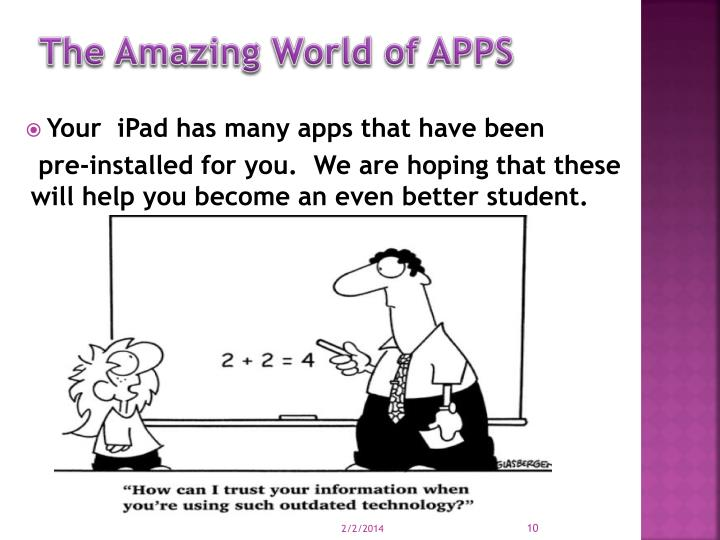 The Amazing World of APPS