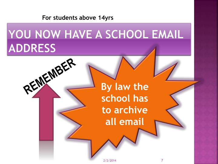 You now have a school email address