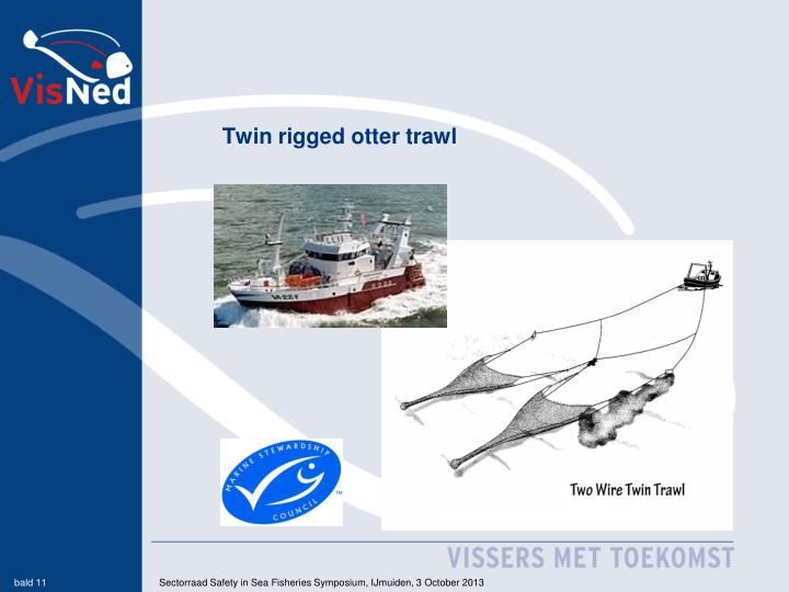 Twin rigged otter trawl
