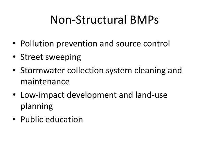 Non-Structural BMPs