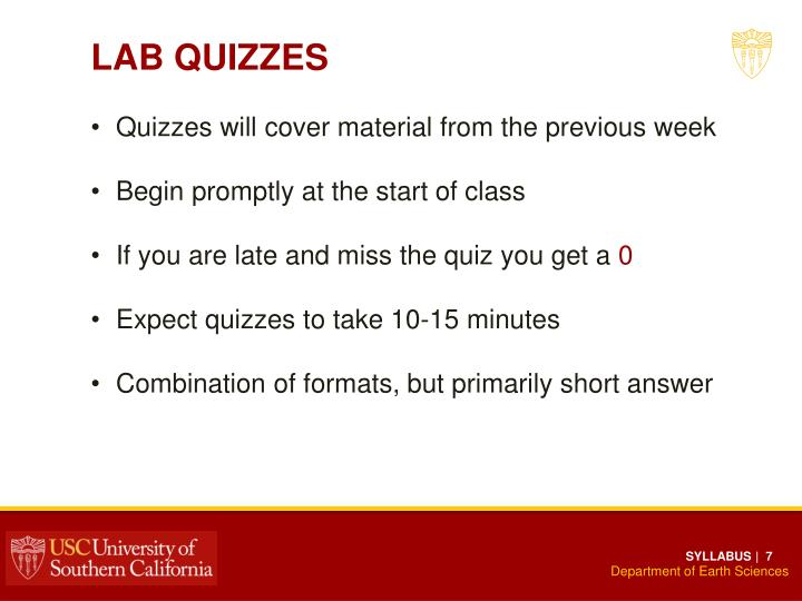 LAB QUIZZES