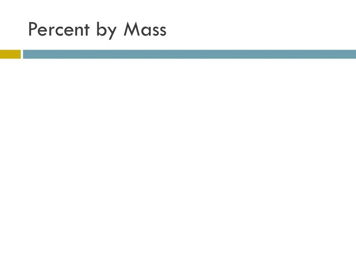 Percent by Mass
