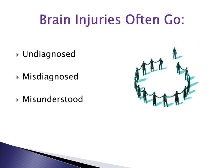Brain Injuries Often Go: