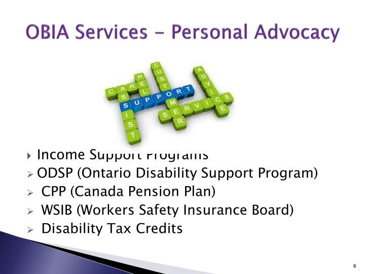 OBIA Services - Personal