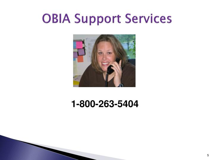 OBIA Support Services