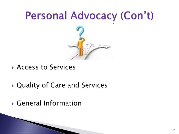 Personal Advocacy (