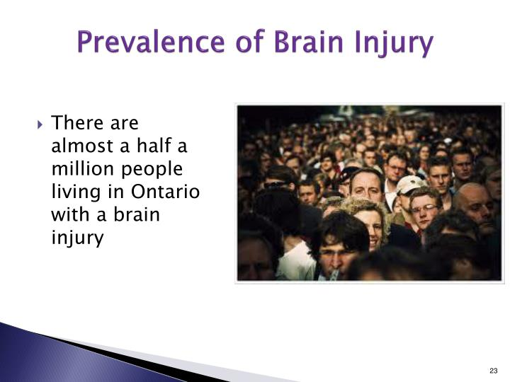 Prevalence of Brain Injury