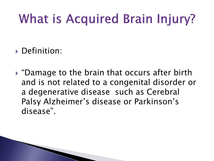 What is Acquired Brain Injury?