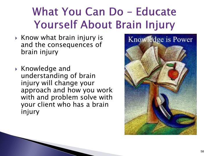 What You Can Do – Educate Yourself About Brain Injury