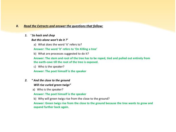 Read the Extracts and answer the questions that