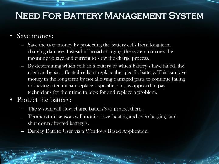 Need For Battery Mana