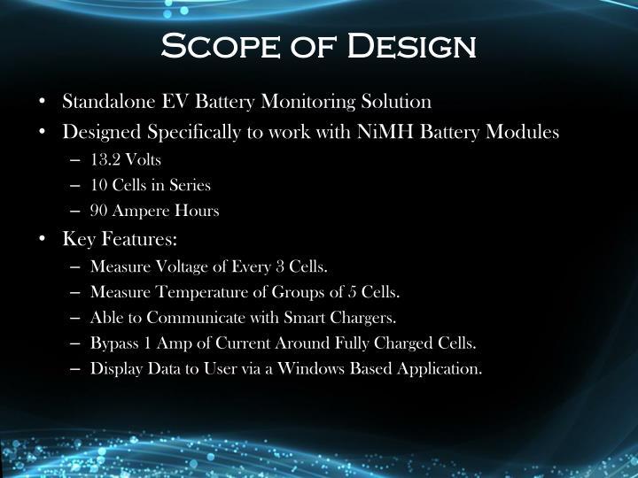 Scope of Design