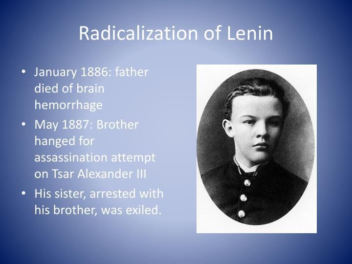 Radicalization of Lenin