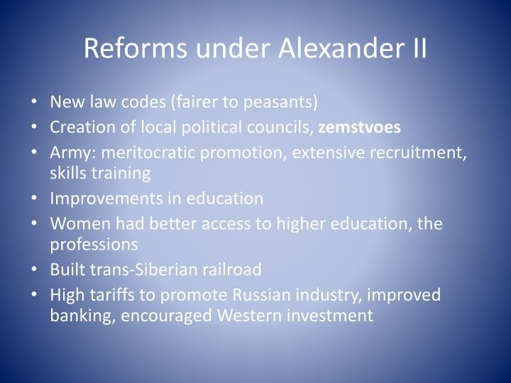 Reforms under Alexander II