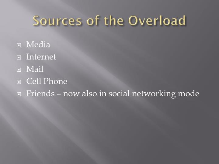 Sources of the Overload