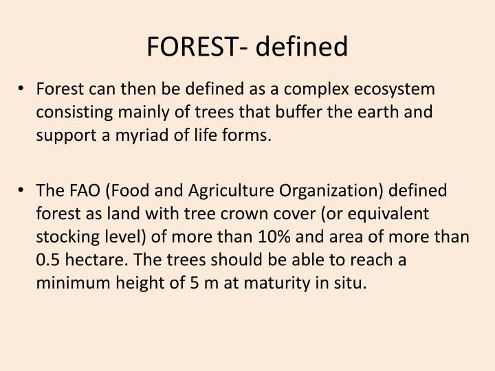 FOREST- defined