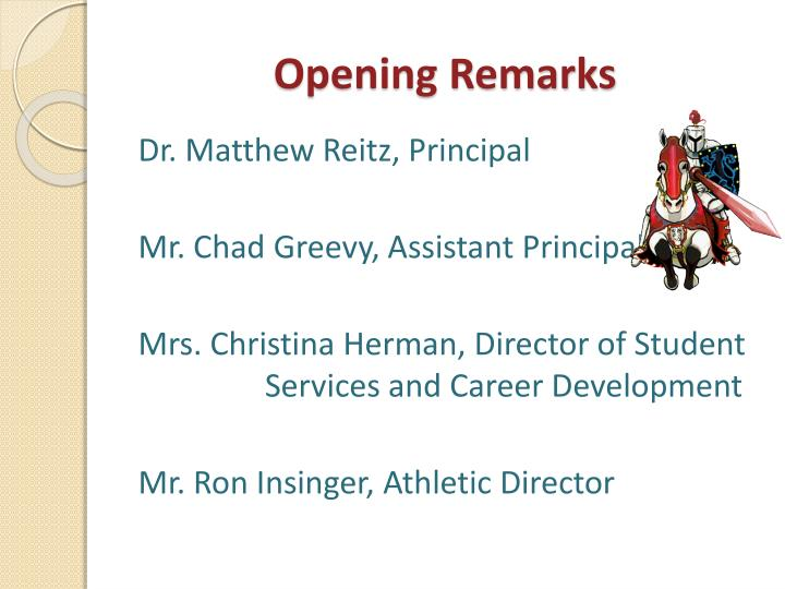 Opening Remarks