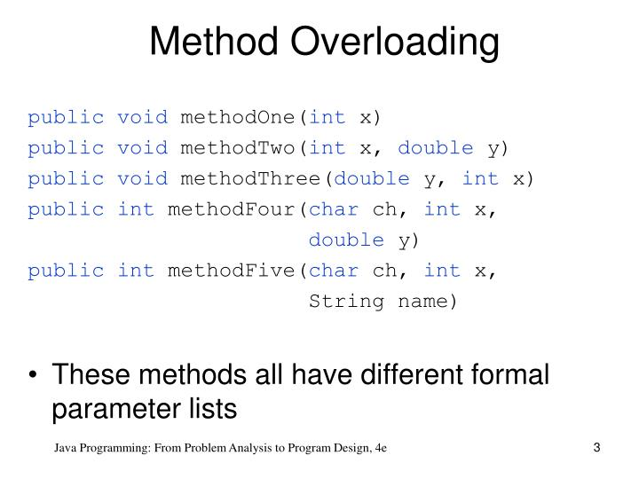 Method overloading