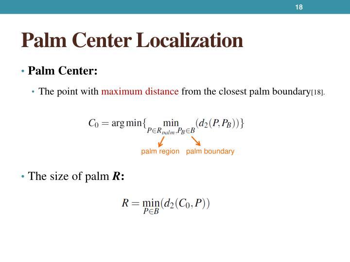 Palm Center Localization