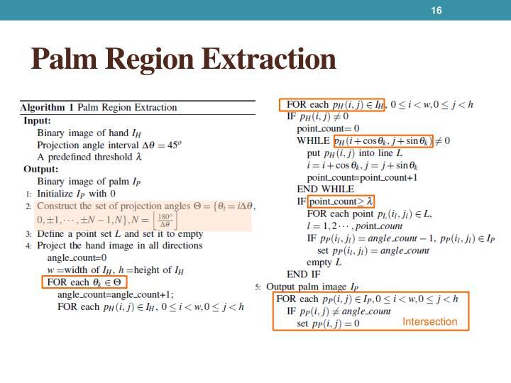 Palm Region Extraction