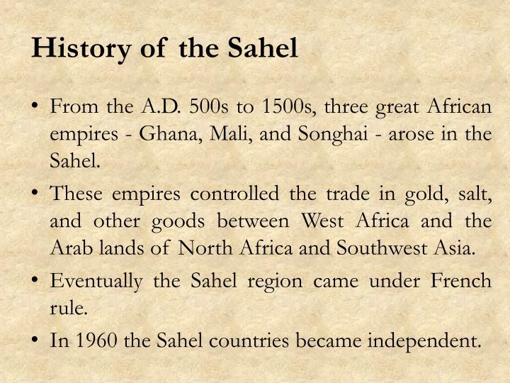 History of the Sahel