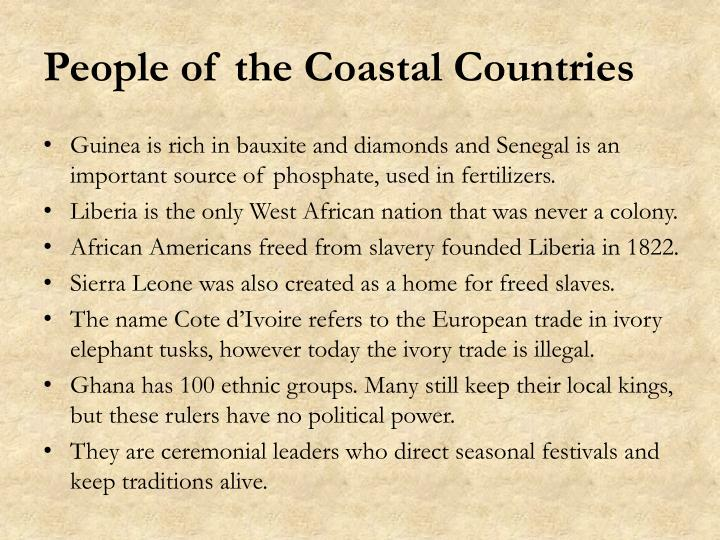 People of the Coastal Countries