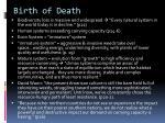 birth of death