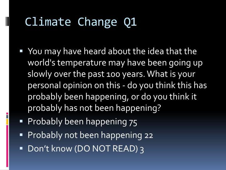 Climate Change Q1
