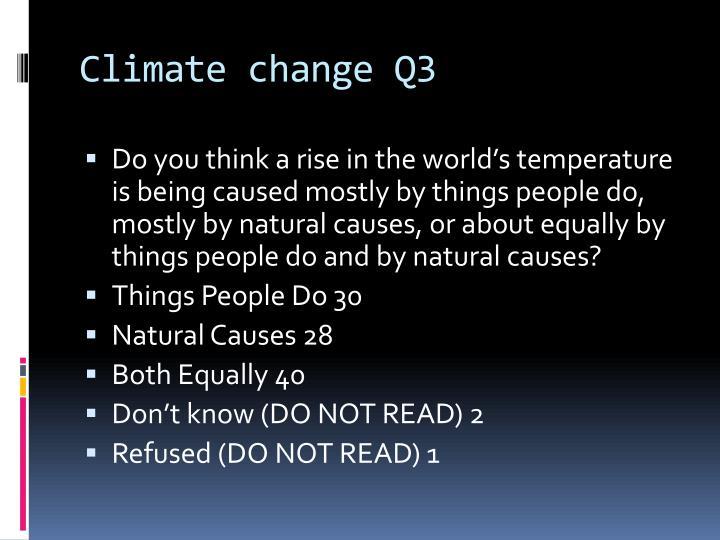 Climate change Q3