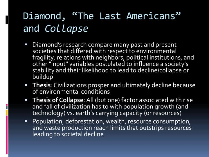 "Diamond, ""The Last Americans"" and"