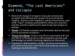 diamond the last americans and collapse