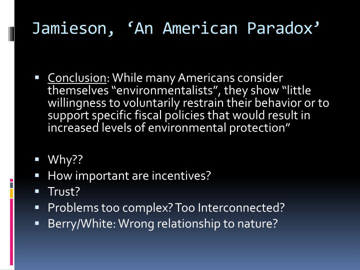 Jamieson, 'An American Paradox'