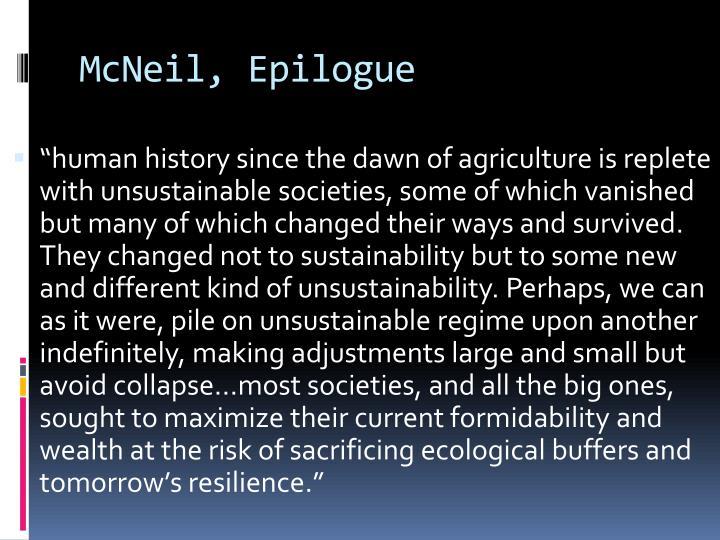 McNeil, Epilogue