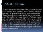 mcneil epilogue