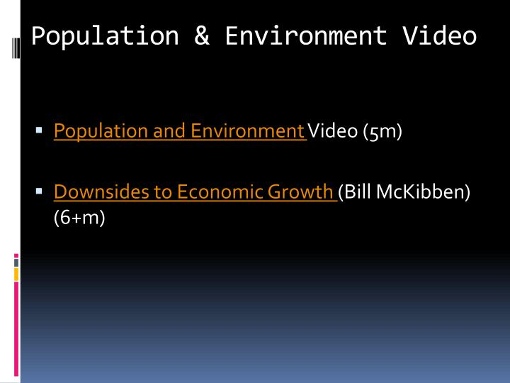 Population & Environment Video