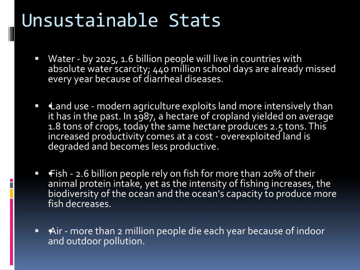 Unsustainable Stats