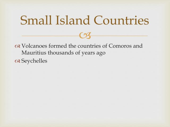 Small Island Countries