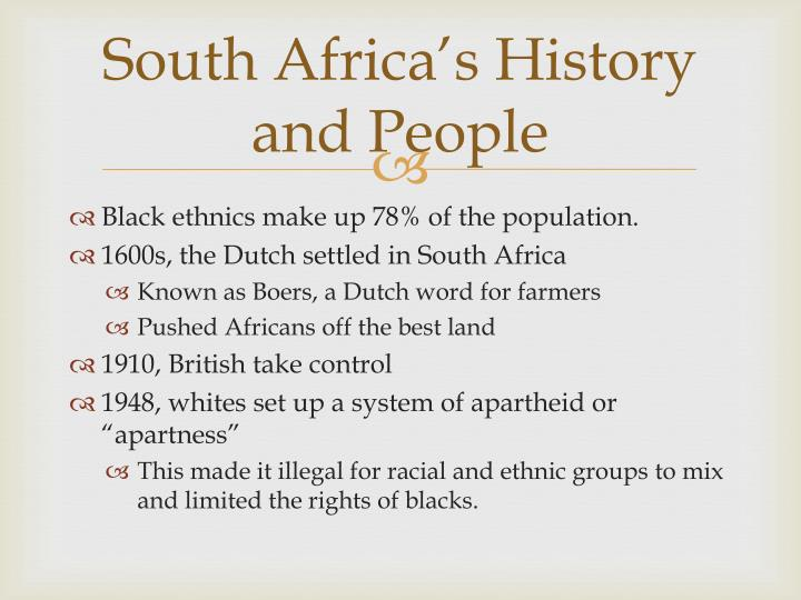 South Africa's History and People