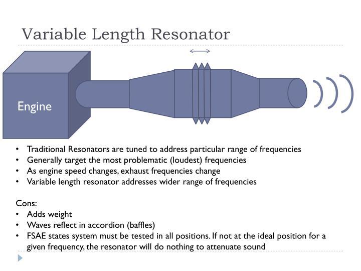 Variable Length Resonator