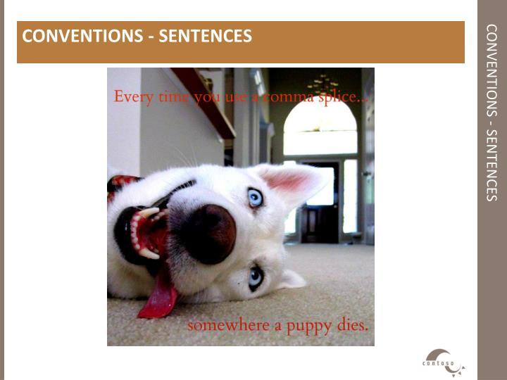 CONVENTIONS - SENTENCES