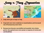 song v tang dynasties