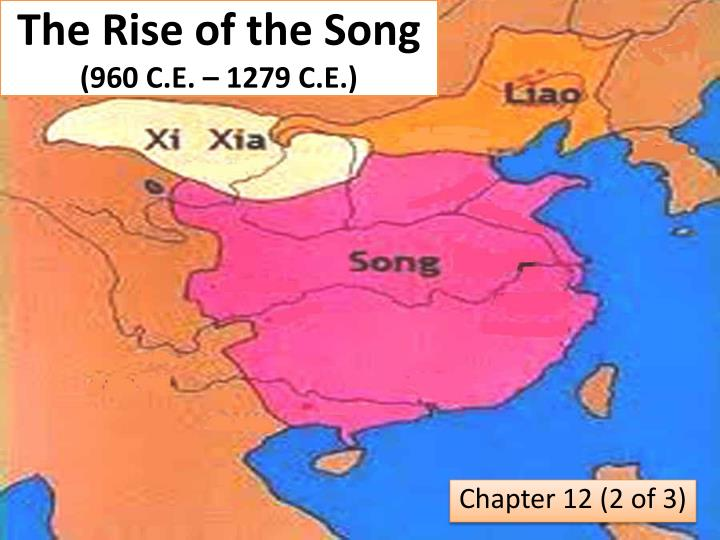 The rise of the song 960 c e 1279 c e