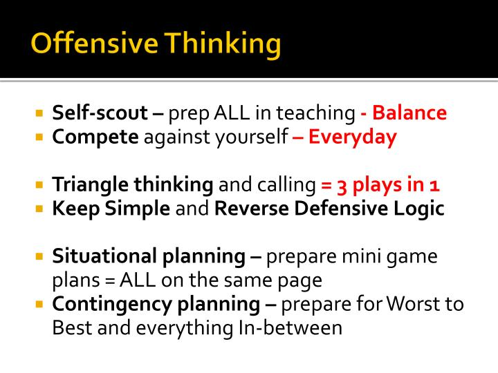 Offensive Thinking