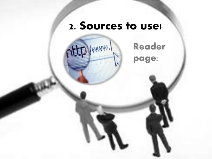 2. Sources